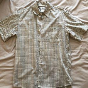 Men's Lacoste Short Sleeve Button Down Large
